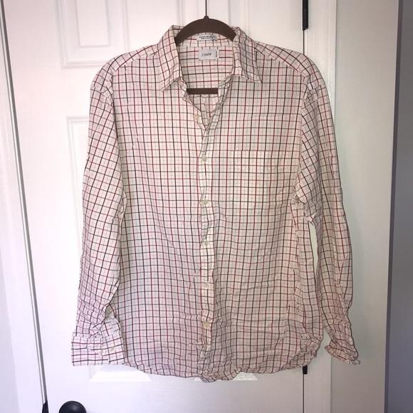 J. Crew Shirt Plaid Checks 80s 2 Ply Button Up L/S